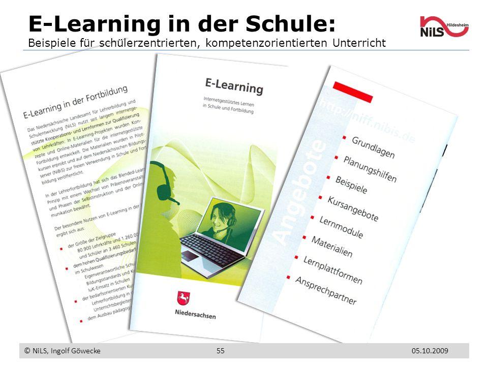 E-Learning in der Schule: Beispiele für schülerzentrierten, kompetenzorientierten Unterricht © NiLS, Ingolf Göwecke 5505.10.2009