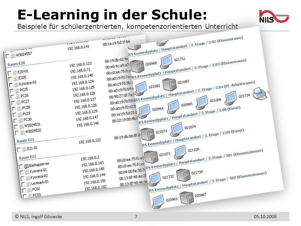 E-Learning in der Schule: Beispiele für schülerzentrierten, kompetenzorientierten Unterricht © NiLS, Ingolf Göwecke 705.10.2009