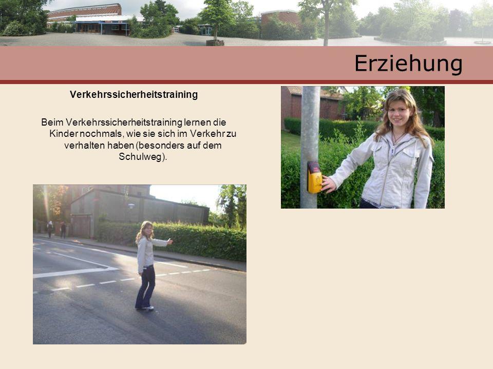 Erziehung Verkehrssicherheitstraining Beim Verkehrssicherheitstraining lernen die Kinder nochmals, wie sie sich im Verkehr zu verhalten haben (besonde