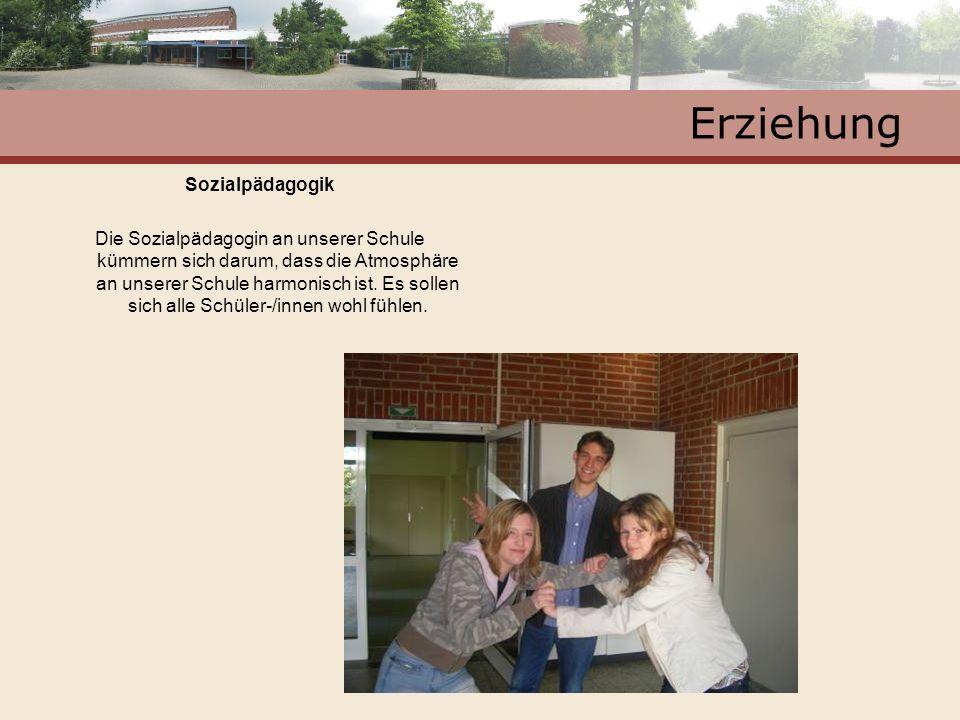 Erziehung Sozialpädagogik Die Sozialpädagogin an unserer Schule kümmern sich darum, dass die Atmosphäre an unserer Schule harmonisch ist. Es sollen si
