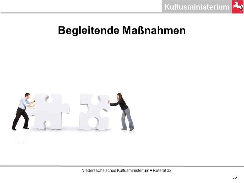 Niedersächsisches Kultusministerium Referat 32 36 Begleitende Maßnahmen