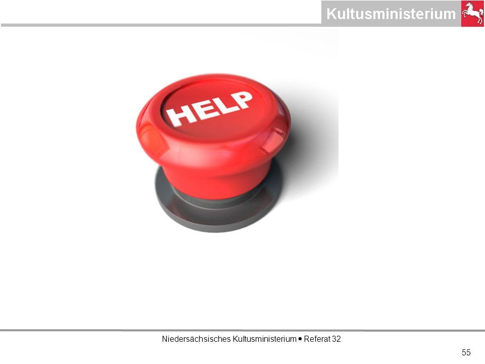 Niedersächsisches Kultusministerium Referat 32 55