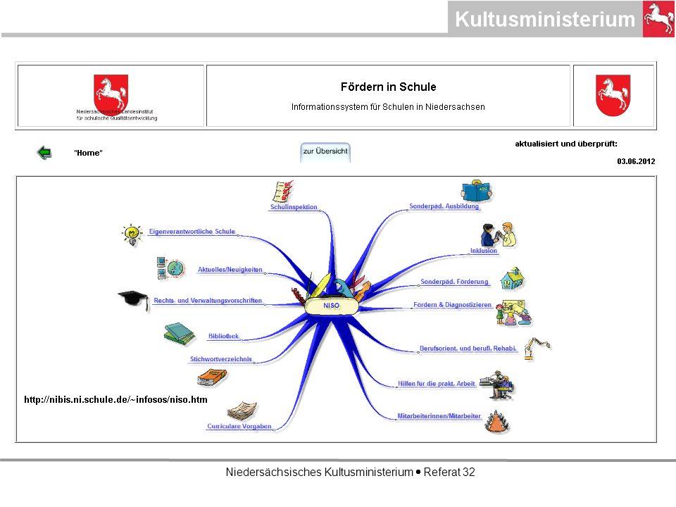 Niedersächsisches Kultusministerium Referat 32