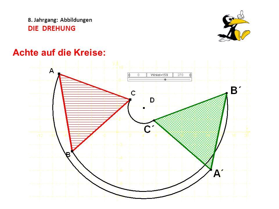 8. Jahrgang: Abbildungen DIE DREHUNG Achte auf die Kreise:
