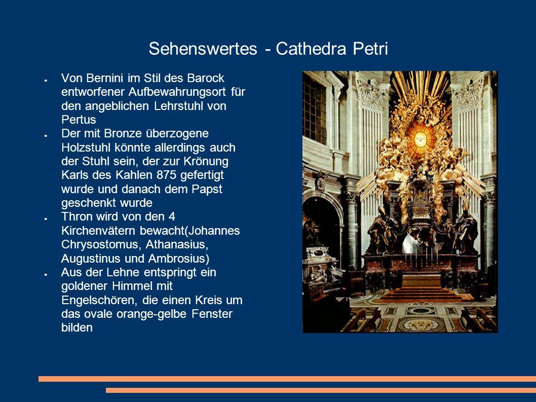 Sehenswertes - Cathedra Petri Von Bernini im Stil des Barock entworfener Aufbewahrungsort für den angeblichen Lehrstuhl von Pertus Der mit Bronze über