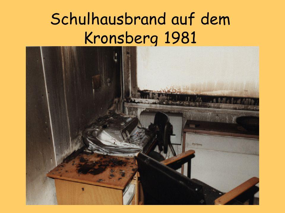 Schulhausbrand auf dem Kronsberg 1981