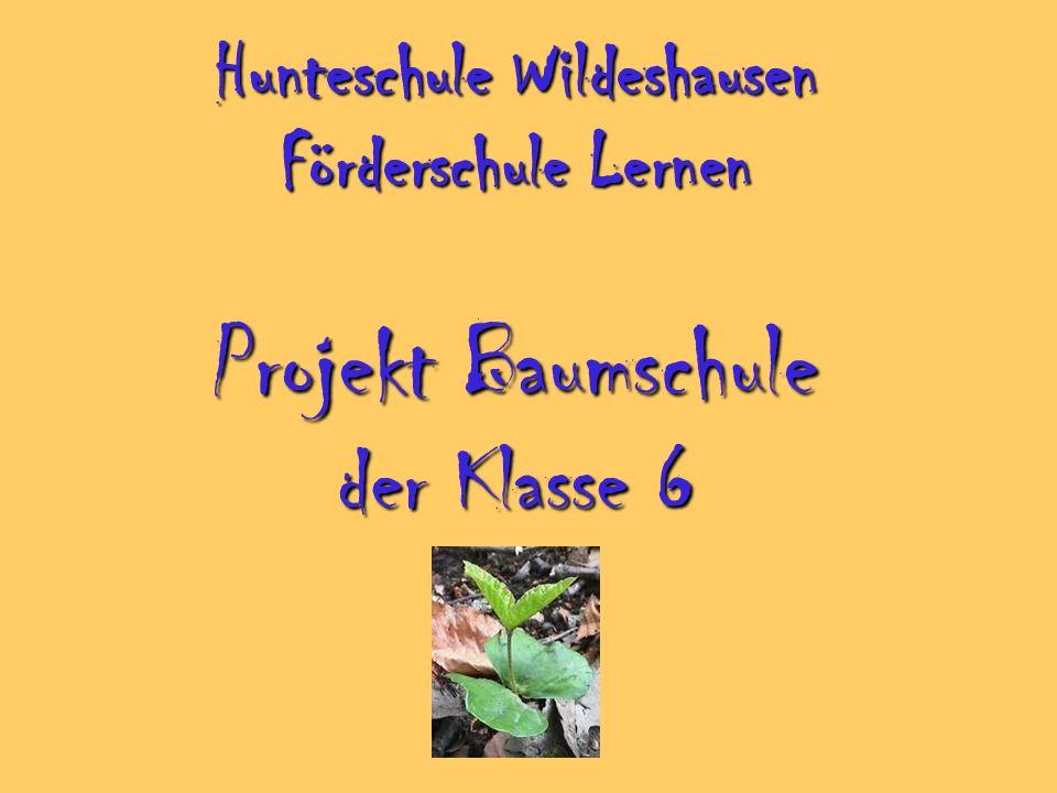 Hunteschule Wildeshausen Förderschule Lernen Projekt Baumschule der Klasse 6