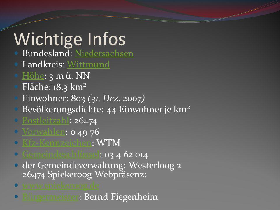 Wichtige Infos Bundesland: NiedersachsenNiedersachsen Landkreis: WittmundWittmund Höhe: 3 m ü. NN Höhe Fläche: 18,3 km² Einwohner: 803 (31. Dez. 2007)