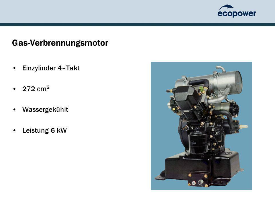 Gas-Verbrennungsmotor Einzylinder 4–Takt 272 cm 3 Wassergekühlt Leistung 6 kW