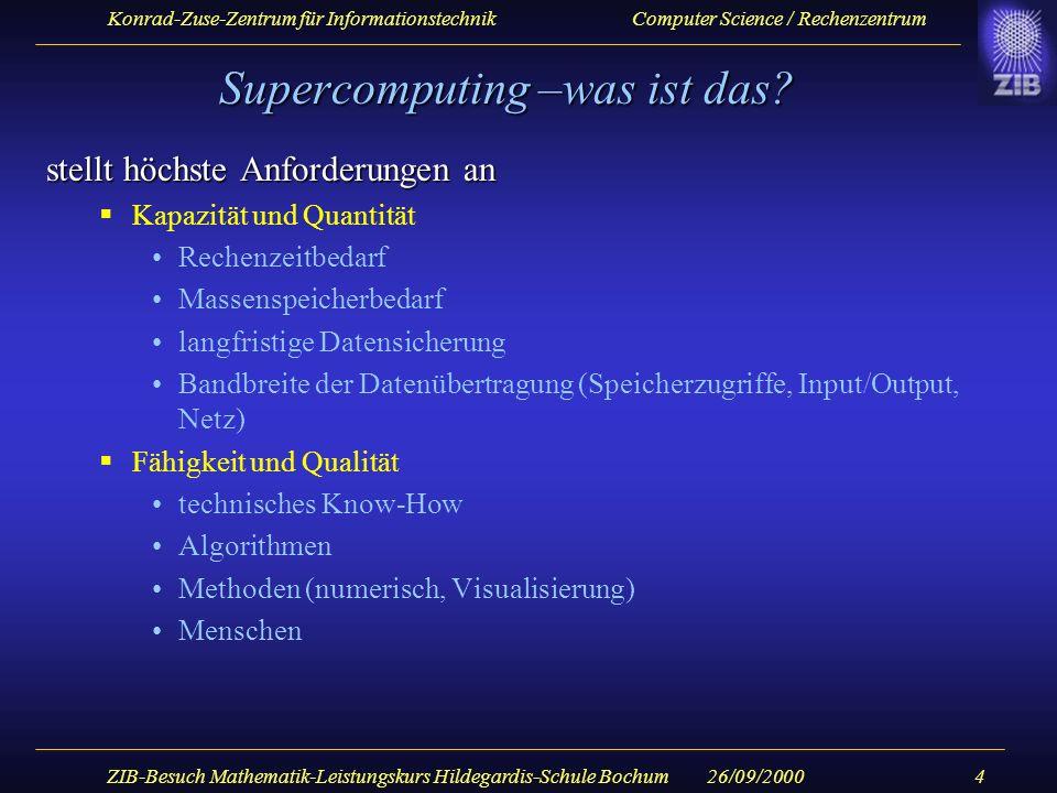 Konrad-Zuse-Zentrum für Informationstechnik Computer Science / Rechenzentrum 26/09/2000ZIB-Besuch Mathematik-Leistungskurs Hildegardis-Schule Bochum5 Ein paar Grundbegriffe...