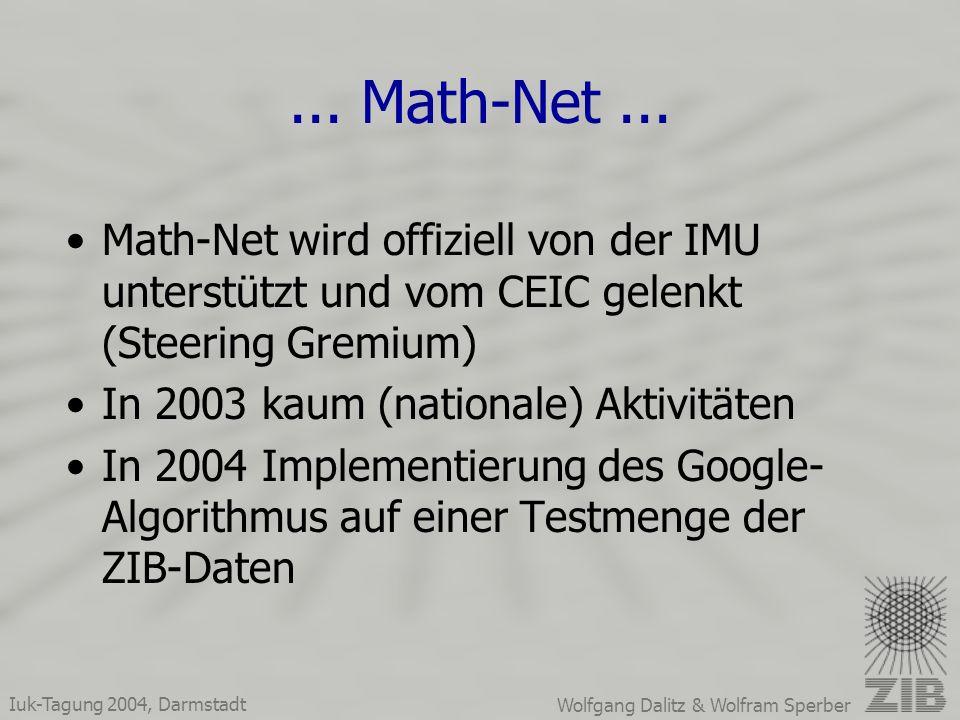 Iuk-Tagung 2004, Darmstadt Wolfgang Dalitz & Wolfram Sperber...