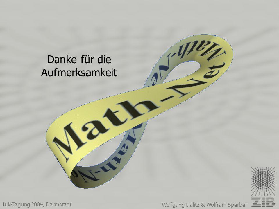 Iuk-Tagung 2004, Darmstadt Wolfgang Dalitz & Wolfram Sperber Danke für die Aufmerksamkeit