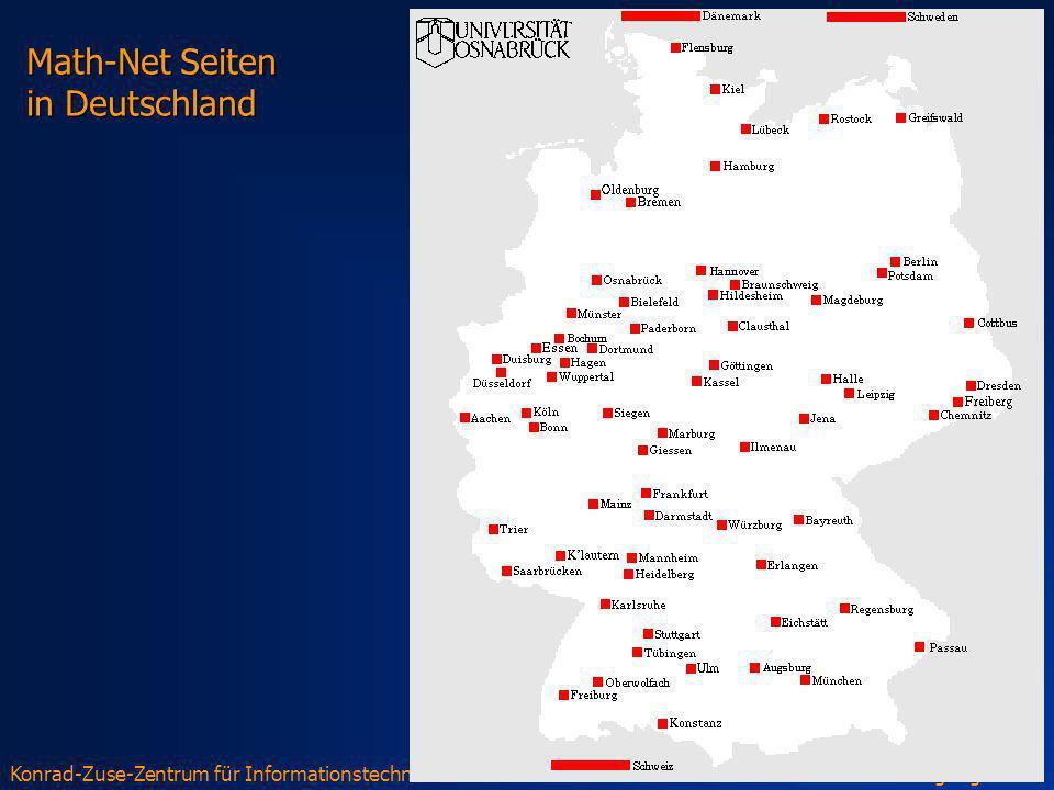Konrad-Zuse-Zentrum für Informationstechnik BerlinWolfgang Dalitz Math-Net Seiten in Deutschland