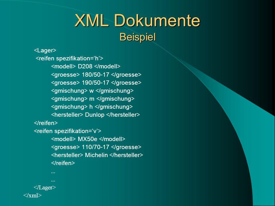 XML Dokumente Beispiel D208 180/50-17 190/50-17 w m h Dunlop MX50e 110/70-17 Michelin...