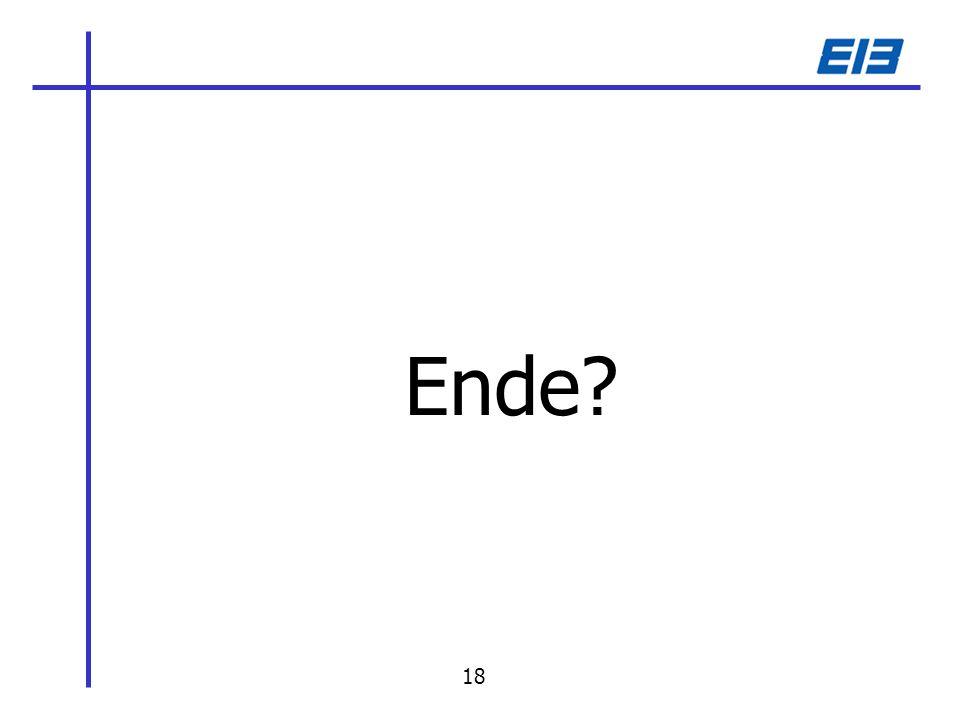 Ende? 18