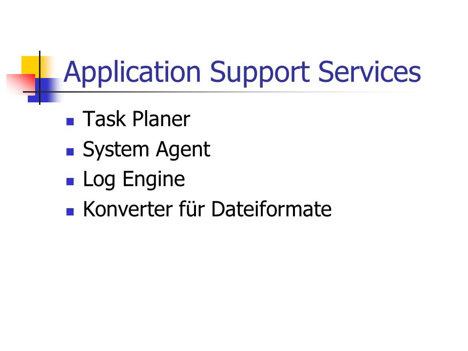 Application Support Services Task Planer System Agent Log Engine Konverter für Dateiformate