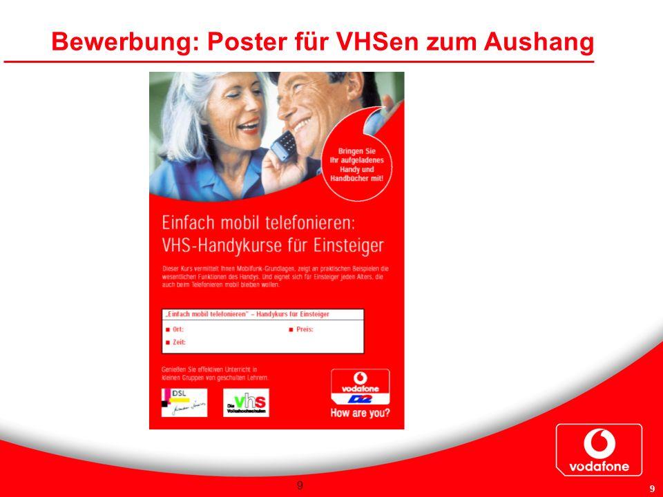 9 9 Bewerbung: Poster für VHSen zum Aushang