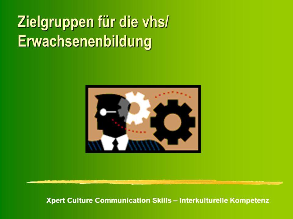 Xpert Culture Communication Skills – Interkulturelle Kompetenz Zielgruppen für die vhs/ Erwachsenenbildung
