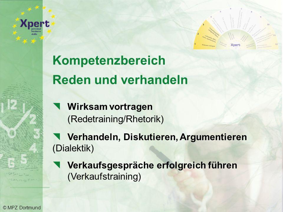 Die Kompetenzbereiche mit den einzelnen Modulen: © MPZ Dortmund