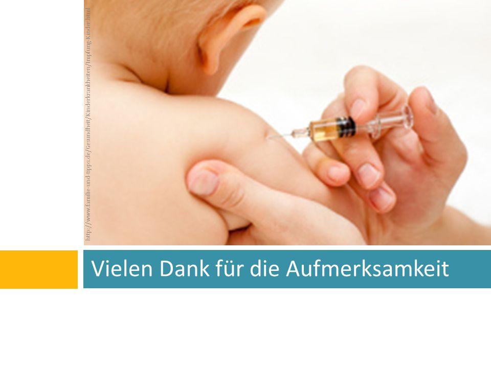 Vielen Dank für die Aufmerksamkeit http://www.familie-und-tipps.de/Gesundheit/Kinderkrankheiten/Impfung-Kinder.html