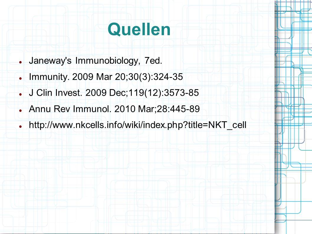Quellen Janeway's Immunobiology, 7ed. Immunity. 2009 Mar 20;30(3):324-35 J Clin Invest. 2009 Dec;119(12):3573-85 Annu Rev Immunol. 2010 Mar;28:445-89