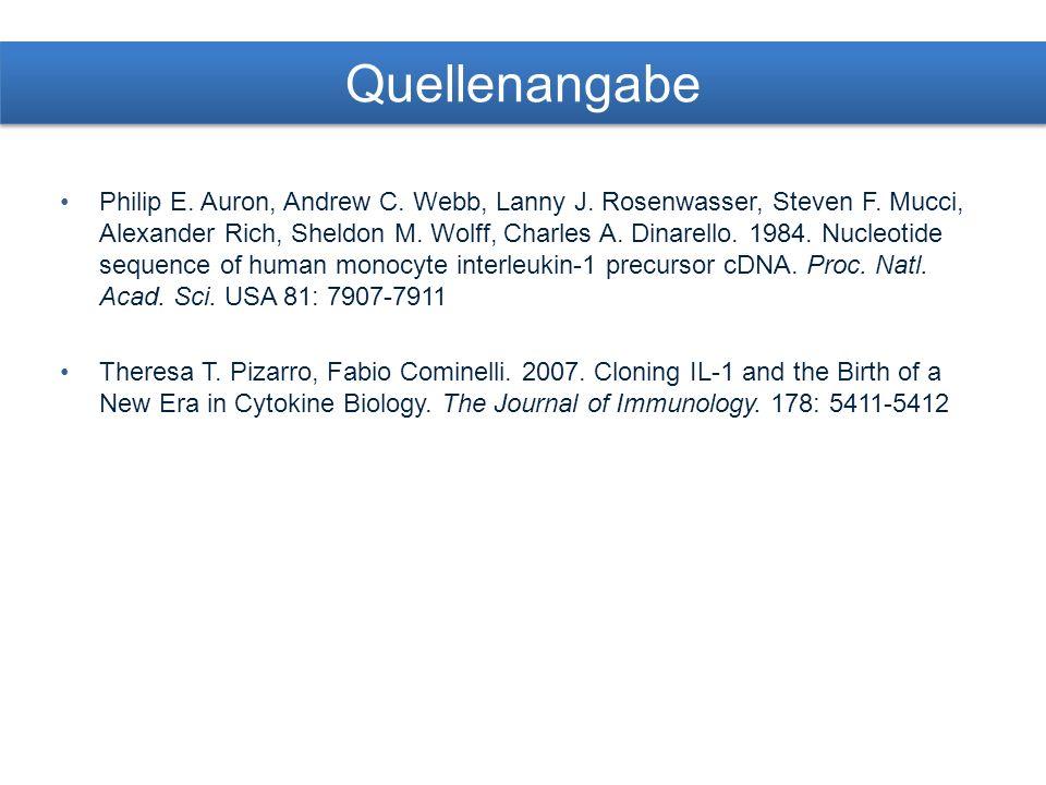 Quellenangabe Philip E. Auron, Andrew C. Webb, Lanny J.