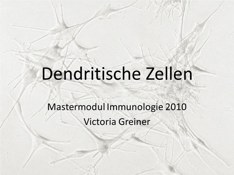 Dendritische Zellen Mastermodul Immunologie 2010 Victoria Greiner