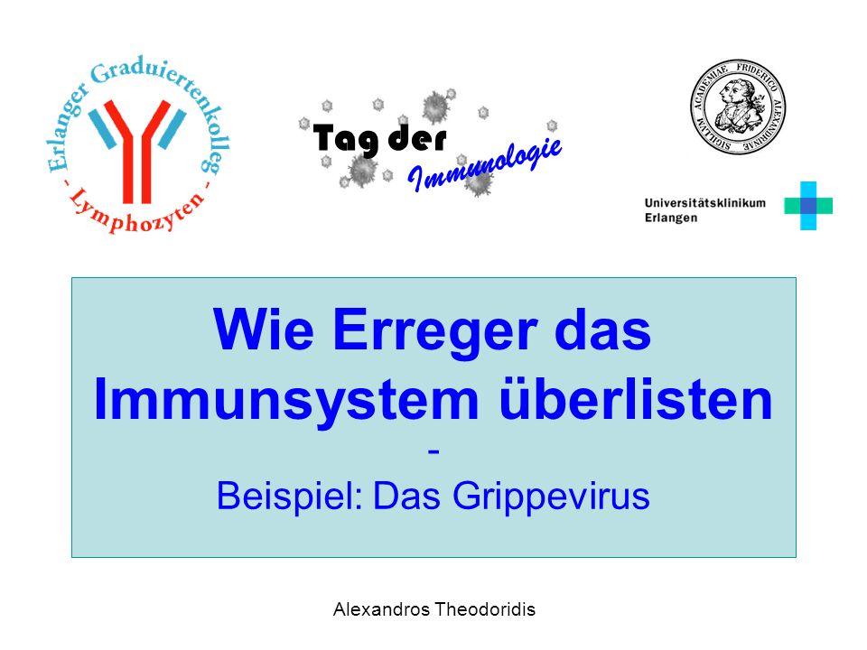 Tag der Immunologie Alexandros Theodoridis Wie Erreger das Immunsystem überlisten - Beispiel: Das Grippevirus