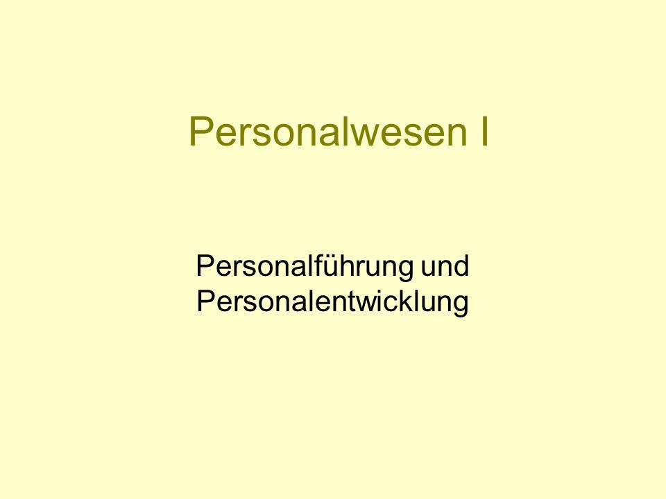 Personalwesen I Personalführung und Personalentwicklung