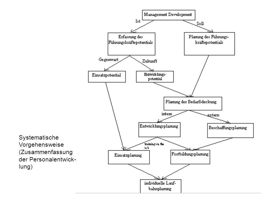 Systematische Vorgehensweise (Zusammenfassung der Personalentwick- lung)