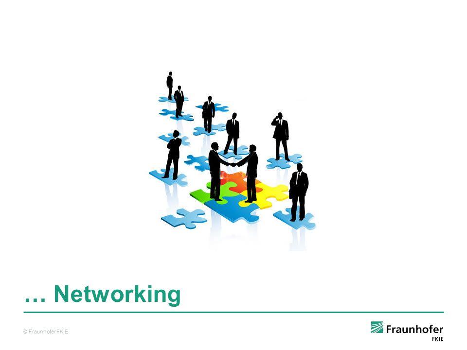 © Fraunhofer FKIE … Networking © Fraunhofer FKIE