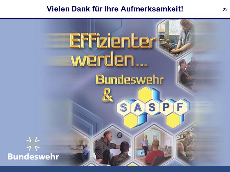 Bundesamt für Informationsmanagement und Informationstechnik der Bundeswehr 22 Vielen Dank für Ihre Aufmerksamkeit!