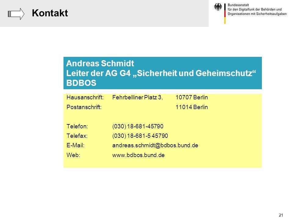 21Kontakt Hausanschrift: Fehrbelliner Platz 3,10707 Berlin Postanschrift:11014 Berlin Telefon:(030) 18-681-45790 Telefax:(030) 18-681-5 45790 E-Mail:a