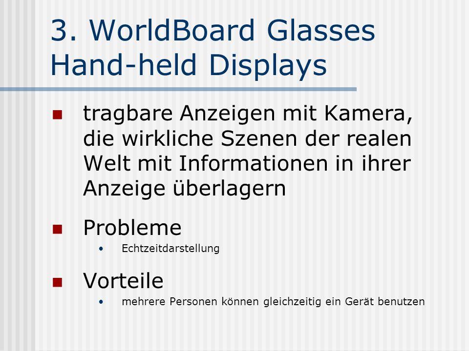 3. WorldBoard Glasses Hand-held Displays tragbare Anzeigen mit Kamera, die wirkliche Szenen der realen Welt mit Informationen in ihrer Anzeige überlag