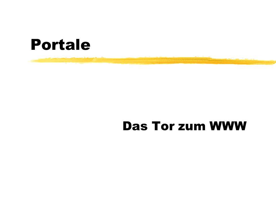 Portale Das Tor zum WWW