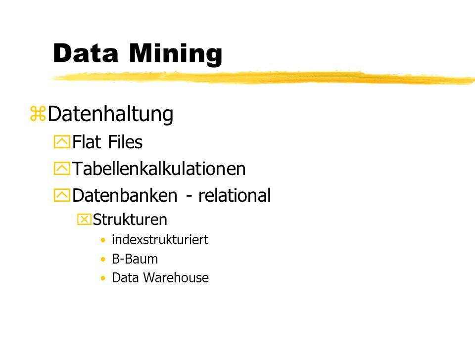 Data Mining zDatensammlung yVorkommen und Formen von Daten erkennen In der Natur - Ca Calcium - Mg Magnesium - He Helium Neu generierte Daten - Strichcode...