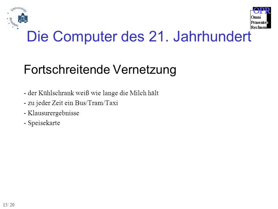 Die Computer des 21.