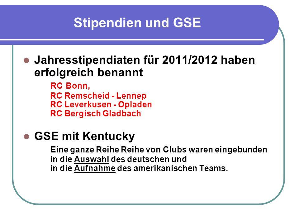 Nicht angesprochen Future Vision Plan der Foundation Was ändert sich für unsere Clubs ab 2013/2014 bei Matching Grants, DSG, Stipendien und GSE .