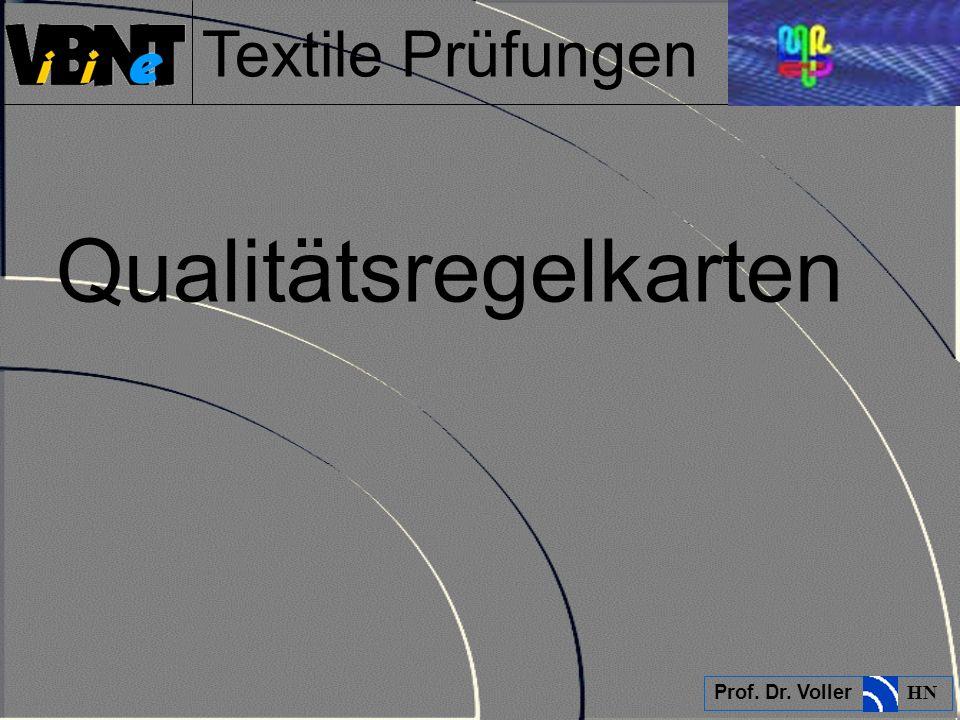Textile Prüfungen Prof. Dr. Voller HN Qualitätsregelkarten