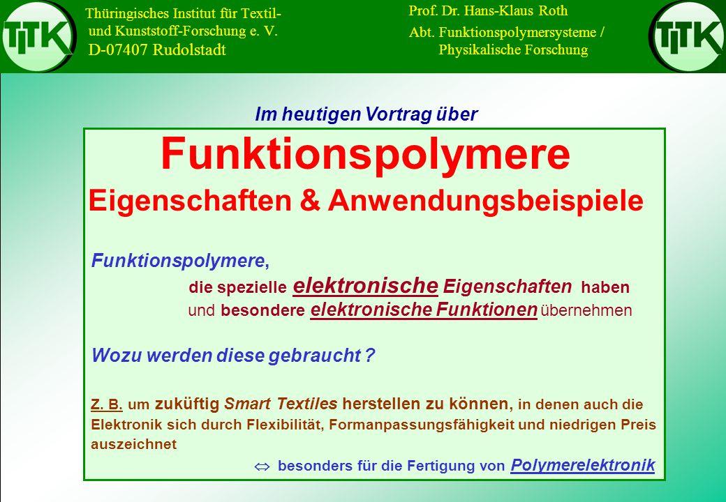 I/U-Kennlinie einer Polymersolarzelle V MPP V oc P MPP I sc I MPP FF Strom [mA/cm²] Spannung [V]