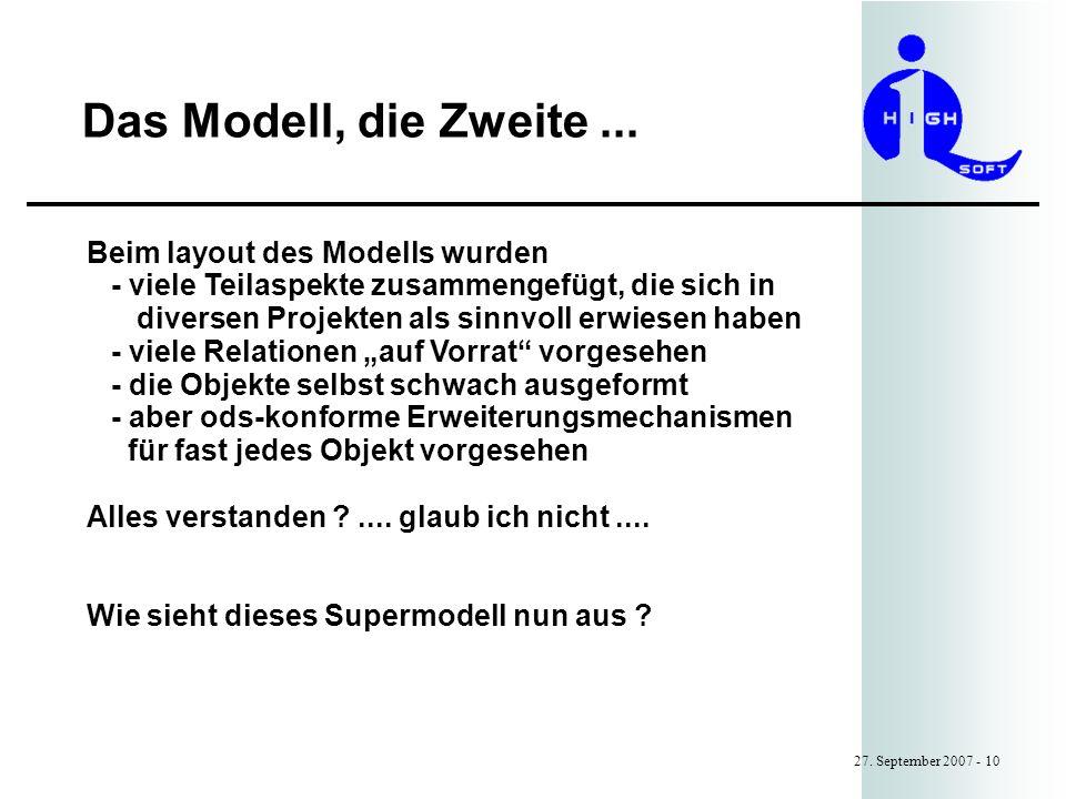 Das Modell, die Zweite...27.