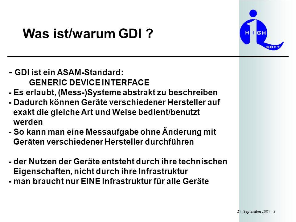 Was ist/warum GDI .27.
