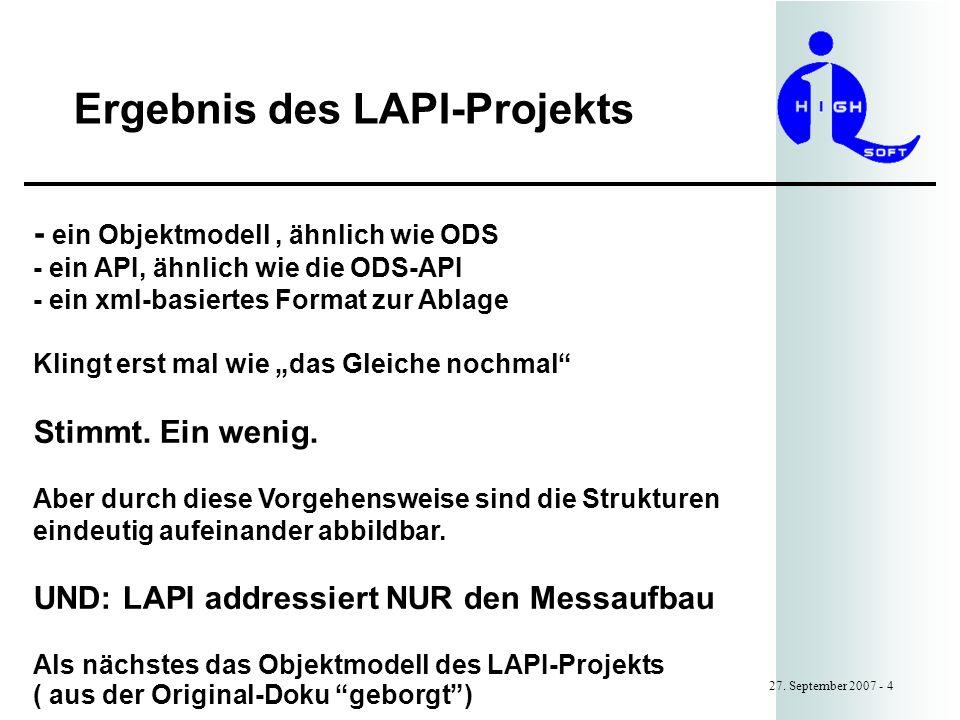 Ergebnis des LAPI-Projekts 27.