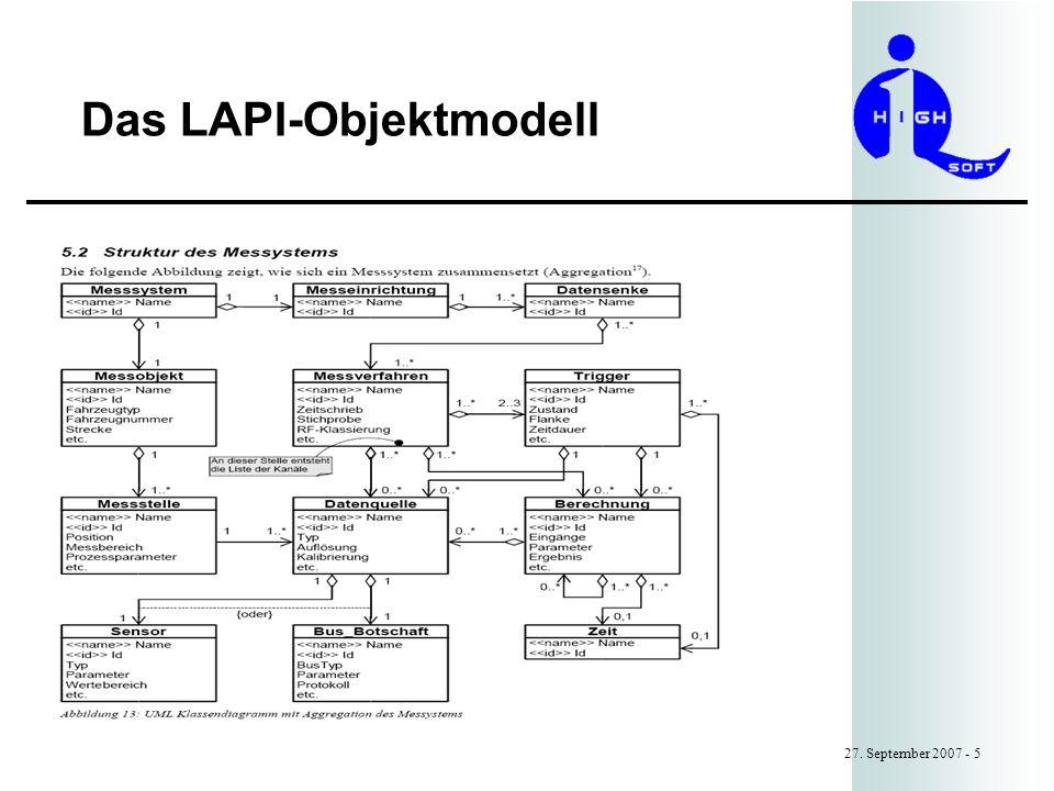 Das LAPI-Objektmodell 27. September 2007 - 5