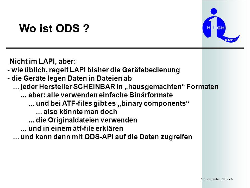 Wo ist ODS .27.