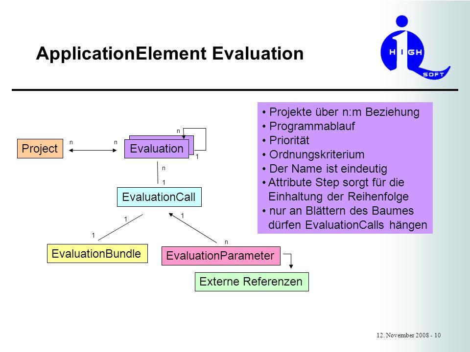 ApplicationElement Evaluation 12.