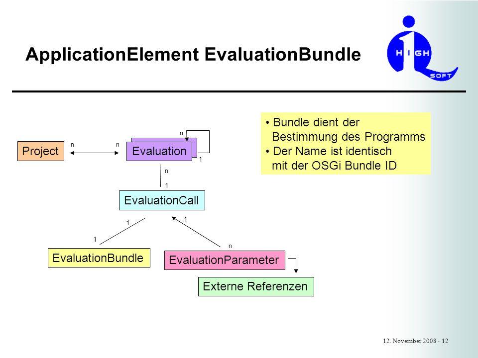 ApplicationElement EvaluationBundle 12.