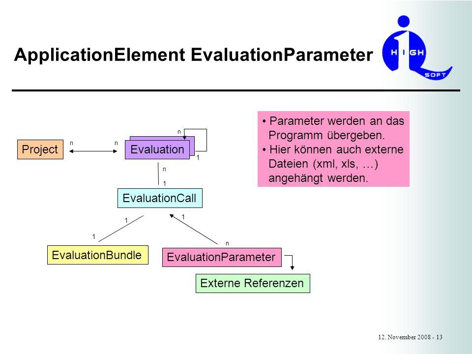 ApplicationElement EvaluationParameter 12.