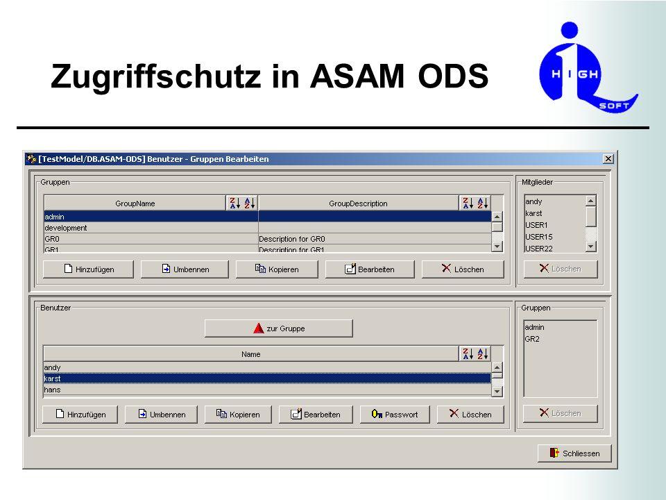 Authentisierung ASAM ODS spezifiziert keine Vorgehensweise für ein Single-Login.