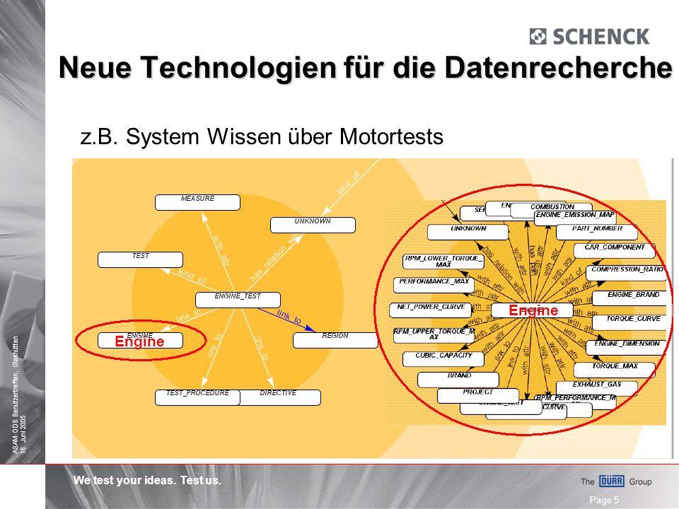 We test your ideas.Test us. ASAM-ODS Benutzertreffen, Glashütten 16.